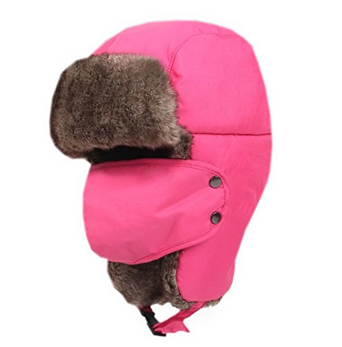 Etanche épais Fuchsia extérieur de ski Chapeau pour adulte avec masque