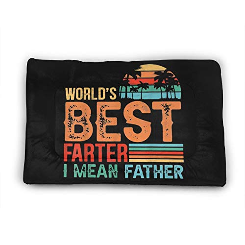 YLX World's Best Farter, I Mean Father Pet Mattress.Dog&Cat Soft Mat,Non-Slip Mat