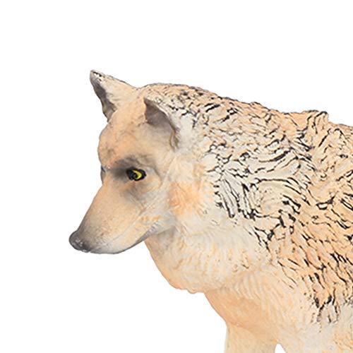 Simulação de brinquedos para animais, estatuetas de lobo, adultos para a coleção educacional de Preschol(default)