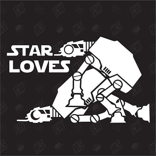 speedwerk-motorwear Star Loves - Star Wars Sticker, at-at Sex, Imperail Walker