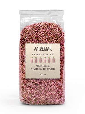 Valdemar Manufaktur essbare Premium ERIKA-Blüten, 500ml (Heidekraut) - HANDVERPACKT In Deutschland