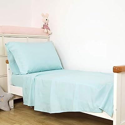 TILLYOU Microfiber Toddler Bed Sheets Set