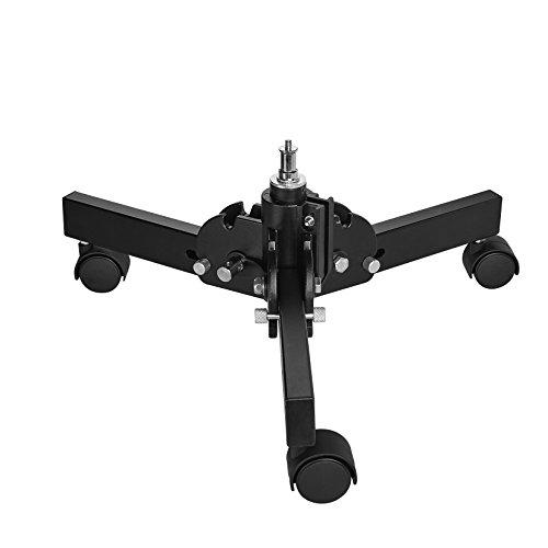 Walimex Pro Boden Rollstativ kompakt 15cm (maximal Arbeitshöhe 18 cm, Belastbarkeit: 8 kg, Befestigungsadapter 5/8 Zoll Spigot mit 1/4 und 3/8 Zoll Anschluss) schwarz