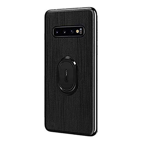 Kompatibel mit Galaxy S10 Plus Hülle Galaxy S10/S10e Schutz Hart Tasche Handyhülle Magnetische Autohalterung Anti-Rutsch Schutz Anti-Fingerabdruck Hardc (Schwarz, Galaxy S10 Plus)