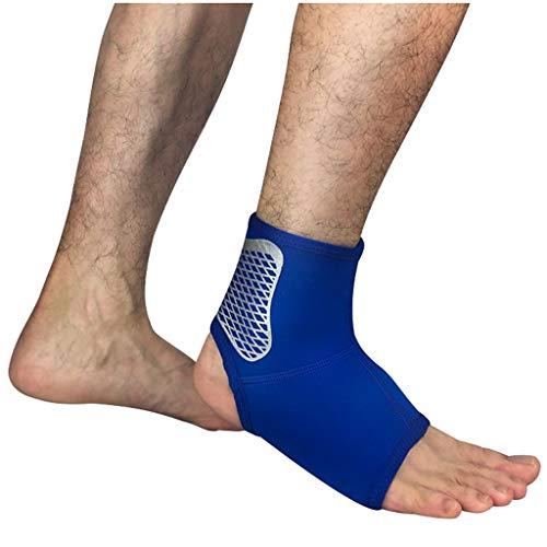 HSJ WDX- Equipo de Protección de fútbol Tobillo Deportes Hombres y de Mujeres esguince de Tobillo Vendaje Protector Profesional de Baloncesto Protege los Tobillos (Color : Blue 1, Size : 23.5-24.5cm)