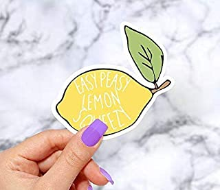 Easy Peasy Lemon Squeesy Vinyl Sticker