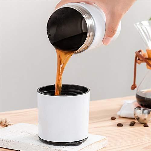 NZHK Todo en un Manual portátil Coffee Grupo de Grano de Grano Conjunto de cafetera Filtro de cervecera con Taza de Viaje Cerámica Ajustable (Color : White)