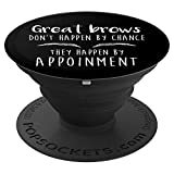 Makeup Artist Gift Eyebrows Lashes Microblading PopSockets Grip and Stand for Phones and Tablets