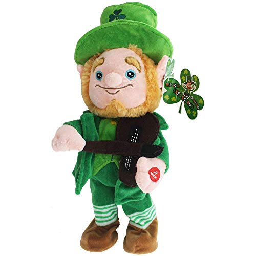 Toyland 40cm Tanzen-Kobold mit Geige - Tag St. Patricks - irische Geschenke
