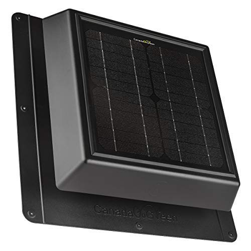4 SEASONS Solar Powered Polycarbonate Vent, Weatherproof Design, Quietly Cools Up to 500 Sq Ft, 400 CFM