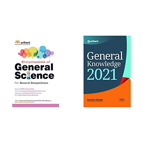 Encyclopedia of General Science for General Competitions+General Knowledge 2021 (Set of 2 Books)(New Edition)