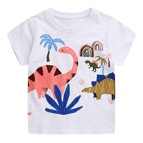 JinBei Camiseta Bebé Niño Manga Corta Algodon Camisetas El