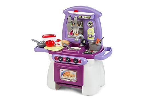 Chicos - Mi Primera Cocina Cook'Home, Cocinita Infantil con 17 Accesorios, a Partir de 18 meses , Medidas-54 x 31 x 57.5 cm (84018)