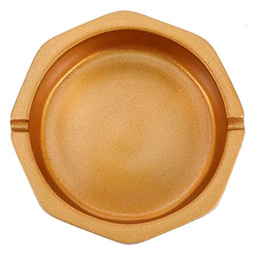 陶磁器の灰皿タバコの灰皿トレイ和の陶器灰タンク陶器のタバコの灰のホールダーのタバコのバットコンテナのためのタバコのお尻のコンテナテーブルタバコの灰皿ゴールデン|コモディティコード:LJW-241