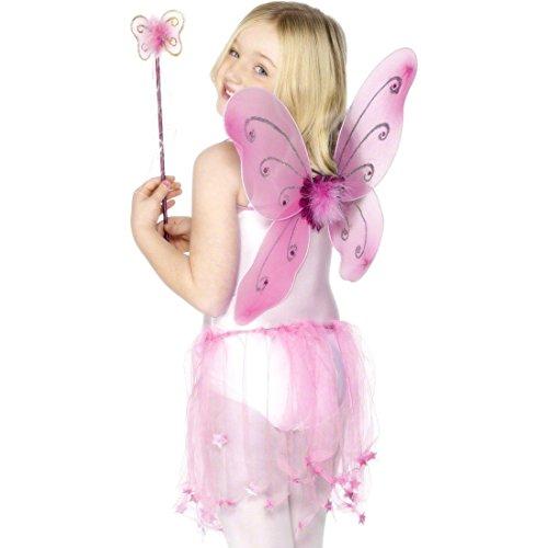 NET TOYS Ailes de fée Pink Ailes d'elfe Baguette Magique Ailes fée Elfe
