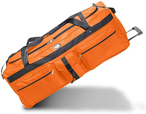 Oversized Duffle Bag with Rollers Everest 342WH - Extra Large 60 Gallon/220 Liter/42 Inches Rolling Duffel Bag - Perfect Heavy-Duty Camp Bag for Summer Camp, Travelers and Sports Equipment
