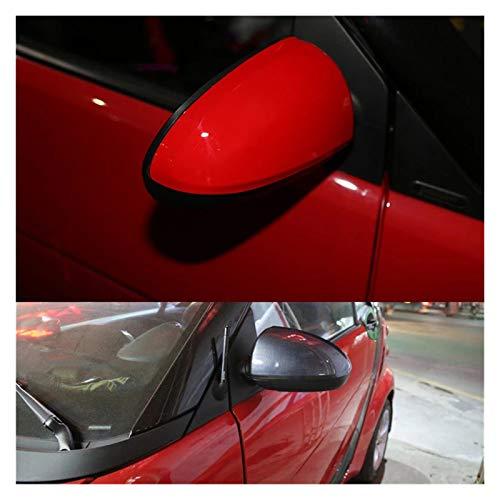 shiyi Red Car Retrovisor Espejo Cubierta De Espejo Accesorios De Cáscara Apto para Smart Fortwo 451 2008-2014 (Color : Red)
