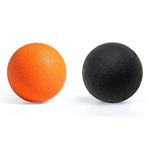 Yoga Massage Ball,Lacrosse Balls Massage, Best Trigger Point Ball, Myofascial Release, Fascia Release, Massage Balls for Back, Trigger Point Therapy Balls. (Orange+Black)