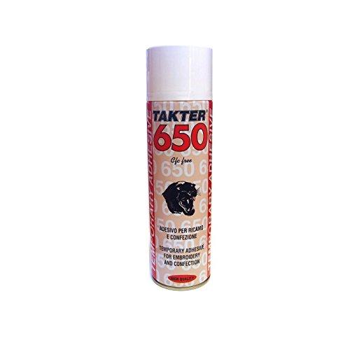 Takter 650 - Spray Textil Fijador Adhesivo para todo tipo de Telas y Tejidos, 500ml