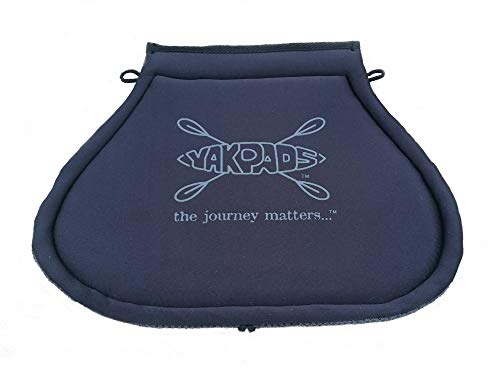 Yakpads Cushioned Seat Pad, Gel Seat Pad for Kayaks, Portable Seat Cushion for Outdoor Watersports and Recreation - Cascade Creek (Paddle Saddle)