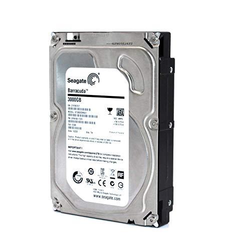 Seagate 3TB interne Festplatte 3,5 Zoll, 7200 RPM, 64MB Cache, SATA III, 3000GB ST3000DM001 SATA Festplatte intern, Backup Festplatte für Desktop PC, Gaming Computer- recertified