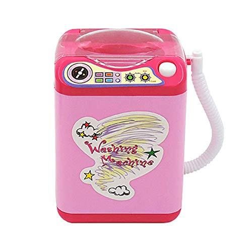 0Miaxudh Waschmaschine Spielzeug, Mini Make-up Pinselreiniger, automatische Reinigung Waschmaschine, so tun, als Spielen Spielzeug Pink
