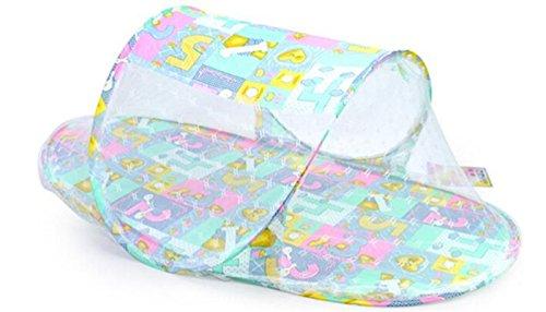 JUNGEN Cuna portátil plegable con Mosquitera para Bebés de 0 – 3 años para Tienda de campaña Viaje o Playa 110 * 60 * 38CM