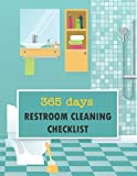 Restroom Cleaning Checklist: Undated 365 days Bathroom log book For Hotel, resorts, homestay, small business, café, office, Convenient Store, shop, ... x 11 inch, Beautiful bathroom design cover