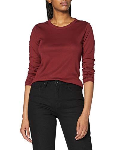 ESPRIT Damen 090EE1K331 T-Shirt, 603/BORDEAUX RED 4, M