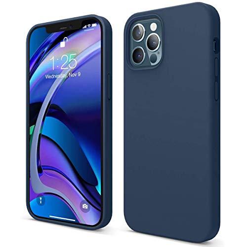 Hikissny Silicona Líquida Funda para iPhone 6 Plus Case, Funda Silicona líquida de Goma Compatible con iPhone 6 Plus Cover, Protección con Forro de Microfibra (Azul Marino)