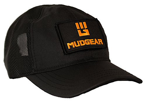 MudGear Unisex-Adult's Tac Hat with Changeable Velcro Patch, Fits All Adjustable, One Size, Black