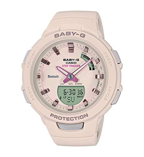 Casio Reloj Analógico-Digital para Mujer de Cuarzo con Correa en Resina BSA-B100-4A1ER