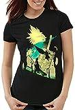 style3 VII Fantasy Battle Camiseta para Mujer T-Shirt Avalanche Sephiroth PS iOS japón, Talla:S