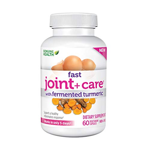 Genuine Health Fast Joint Care+ with Turmeric and Eggshell Membrane  Natural Pain Relief  60 Capsules