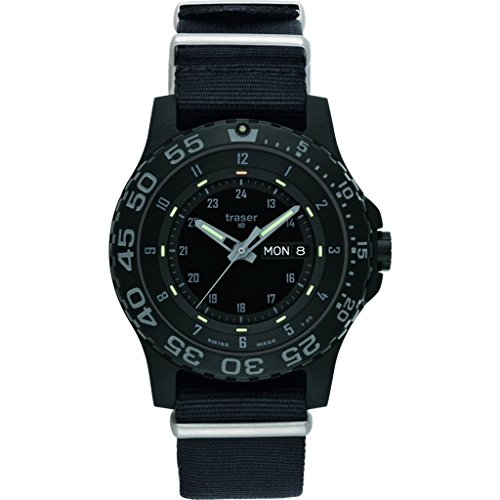 traser H3 P6600 Shade Sapphire Reloj | NATO Watch Band - Negro