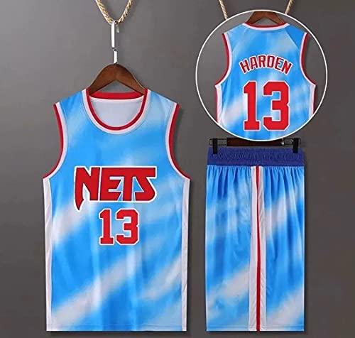 Haoshangzh55 Jersey De Baloncesto para Hombre - NBA Brooklyn Nets # 13 James Harden, Hombre Transpirable Jersey Fans Sin Mangas Chaleco De Baloncesto Camiseta,XL(180~185CM)