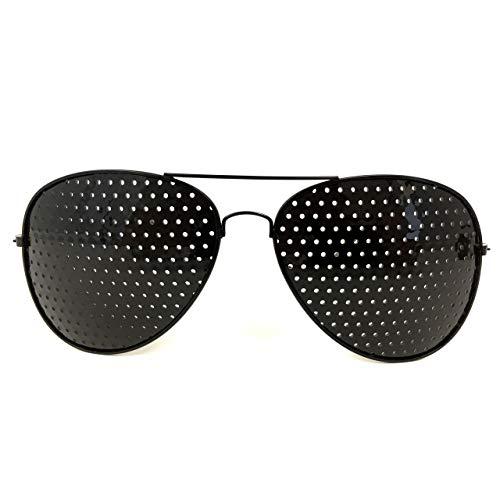 Gafas Lentes Reticulares Basalto - método Bates - miopía, presbicia, hipermetropía o astigmatismo - agujeros piramidales