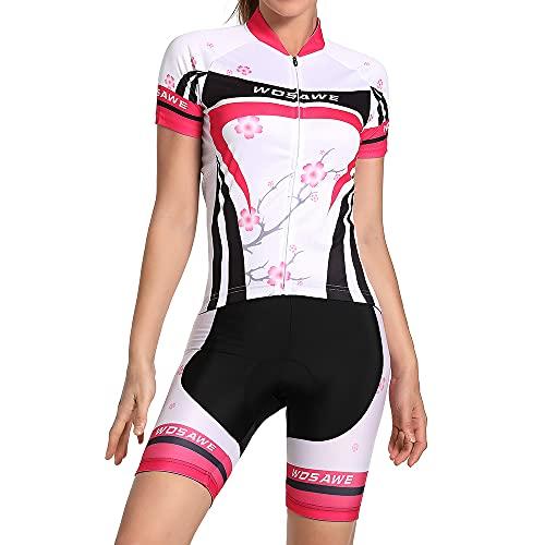 WOSAWE Traje de manga corta y pantalón corto para mujer, color ciruelo, talla XL