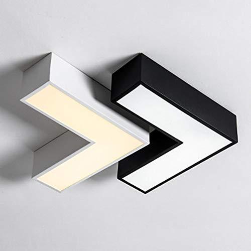JminJC Plafoniera Moderna Freccia Creativa Stile Minimalista Colore Bianco Nero Adatto per La Scala di Ingresso per La Casa,White-25CM-WarmLight