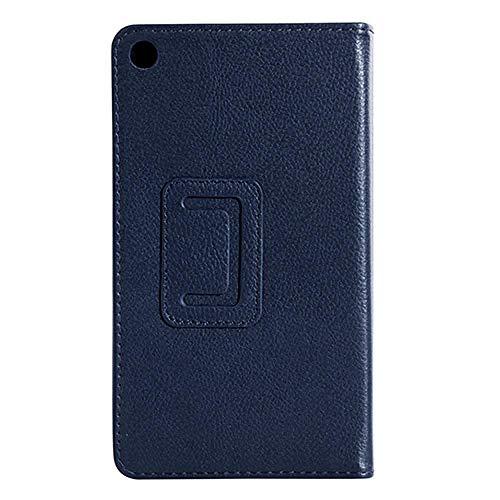 Für Tablet-Hülle Für Lenovo A8-50 A5500 Schutzhülle Folio PU Ledertasche Abdeckung Für Lenovo IdeaTab A8-50 A5500 8-Zoll-Tablet-Dunkelblau