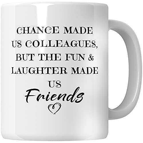 WG - Chance Made Us Colleagues, Best Friends Coffee Mug, Friendship Mug,...