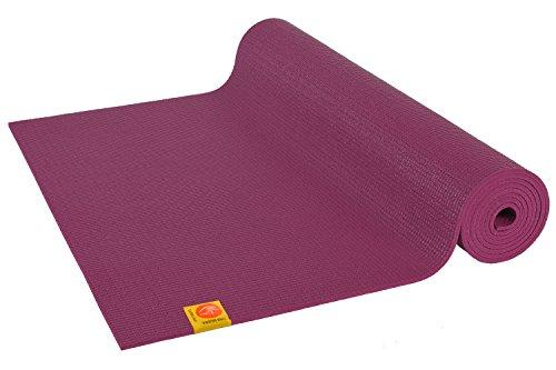 Chin Mudra Tapis de Yoga Confort Non Toxiques - 183cm x 61cm x 6mm - Prune