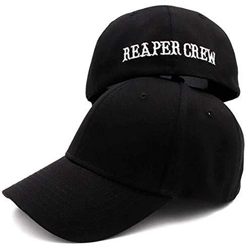 Yiyu Sombreros Negros Hijos de la anarquía de la Gorra de béisbol Reaper Crew Hombres de Las Mujeres Bordado Hip Hop Letras Sombrero Sombrero for los Hombres x (Color : Black)
