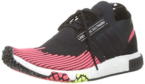 adidas Herren NMD_Racer Pk Gymnastikschuhe, Schwarz (Core Black/Core Black/Shock Red Core Black/Core Black/Shock Red), 42 2/3 EU