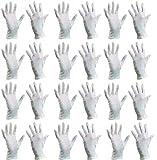 (10/XL) Baumwollhandschuhe (24 Stück) Schutzhandschuhe, Baumwolle Handschuhe, Stoffhandschuhe, Cotton Gloves, Arbeitshandschuhe, Sporthandschuhe | Damen Herren Kinder | Größen XS, S, M, L, XL, XXL