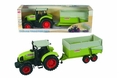 Dickie - 203475507 - Véhicule Miniature - Tracteur + Remorque Claas