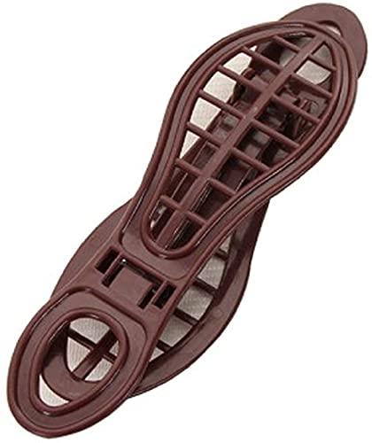 KDOAE Civière Shaper Streinture à Chaussures Arbre de Chaussure Plastique réglable Streinture de Chaussures Portable Civières Femmes Hommes (Color : Brown, Taille : 21x6.5x12cm)