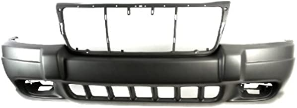 CarPartsDepot, Front Bumper Cover Textured Brownstone w/Fog Lamp Hole, 352-26877-10 CH1000312 5FN29VF7AB