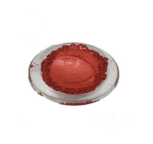 Mopa Crafts Cosmétique Poudre de Mica Pigment Savon Ongle Art Additif Cire de Soja Bougie Résine 50 g Rouge Chinois