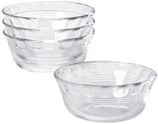 Pyrex Original 10 oz Custard Cup 4 pack,Clear glass